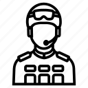 avatar, man, military, soldier icon