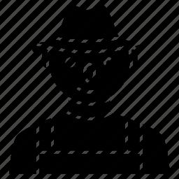 avatar, farmer, hat, man icon