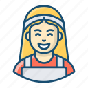 housekeeper, housemaid, maid service, home cleaner, service provider icon