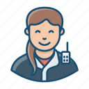 constable, female cop, police officer, policewoman, sergeant icon