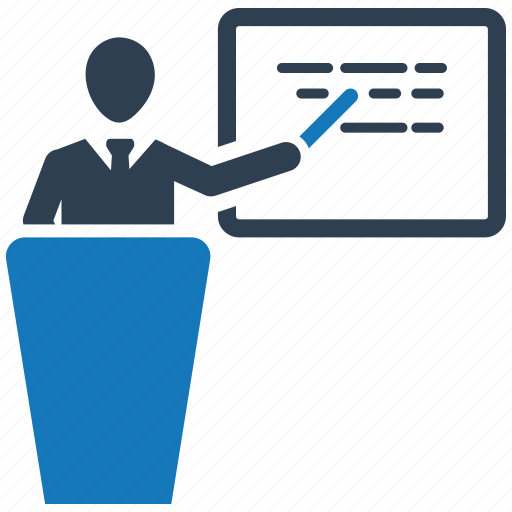 business, education, finance, lecture, marketing, money icon
