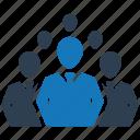 business, internet, leadership, office, seo, team, teamwork icon