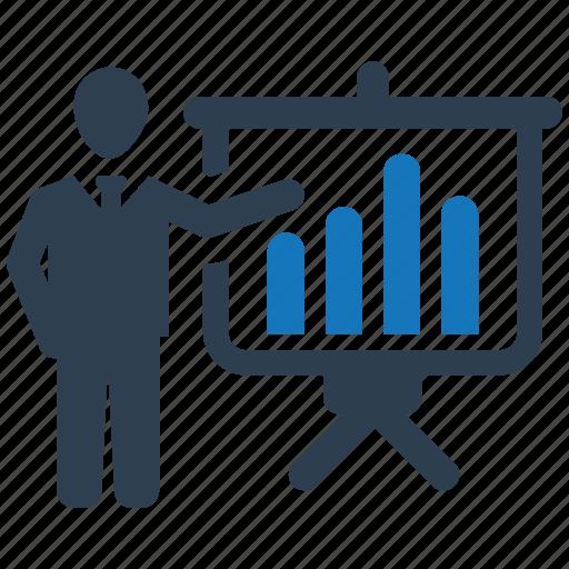 analytics, business, marketing, presentation, report, seo icon