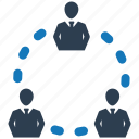 business, communication, connection, message, network, team, teamwork icon