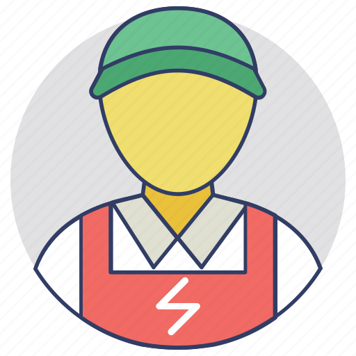 electrical engineer, electrical expert, electrician, power lineman, wireman icon