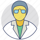 biochemist, biologist, botanist, laboratory man, scientist icon