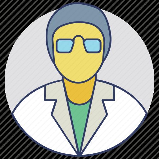 biochemist, biologist, botanist, laboratory man, scientist icon