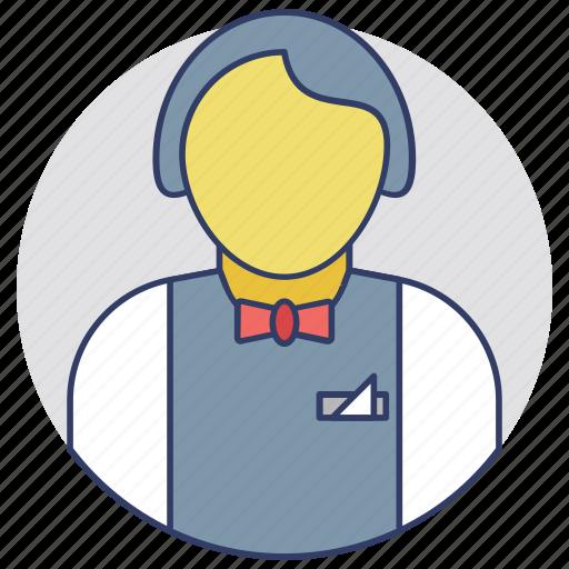 Attendant, butler, servant, stewardess, waitperson icon - Download on Iconfinder