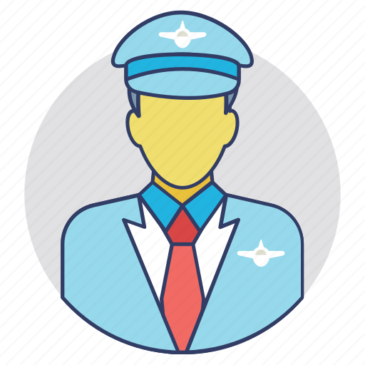 Airline captain, airline crew, airline pilot, airplane pilot, flight attendant icon - Download on Iconfinder