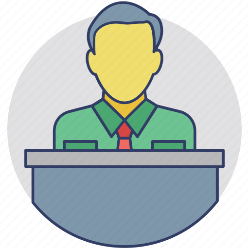 marketing manager, merchant, salesman, salesperson, seller icon
