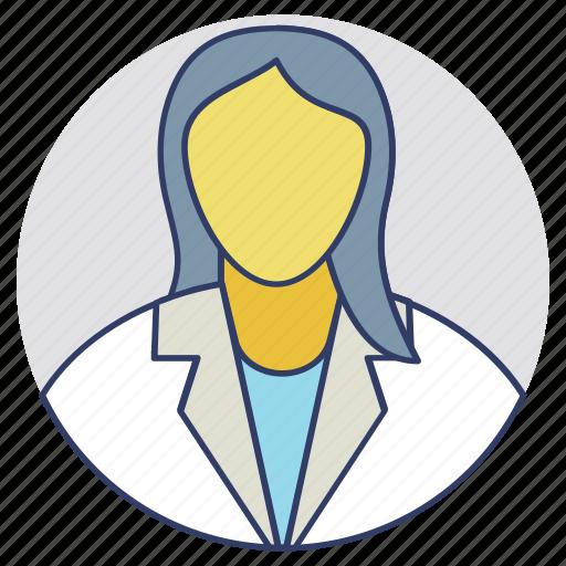 doctor, lady doctor, nurse, physician, surgeon icon