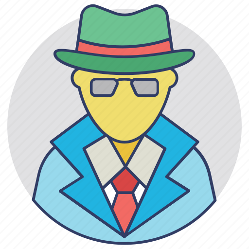 detective, enquiry agent, inspector, investigator, police officer icon