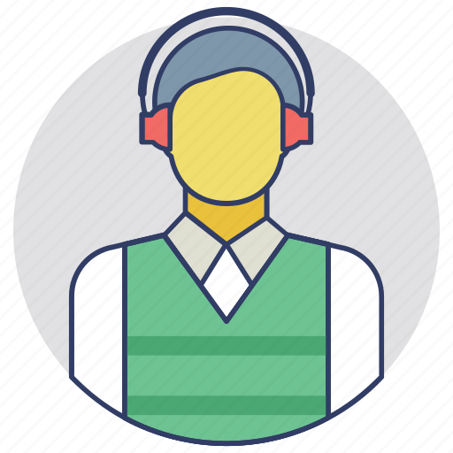 air controller, air traffic controller, airport crew, airport worker, flight controller icon