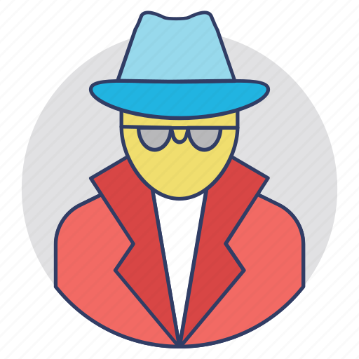 Detective, enquiry agent, inspector, investigator, police officer icon - Download on Iconfinder