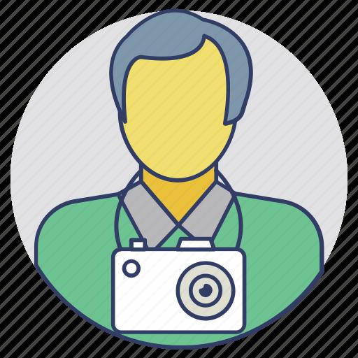 cameraman, cinematographer, lensman, photographer, photoshooter icon