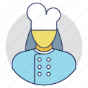 baker, cook female, cooker, kitchener, servant icon