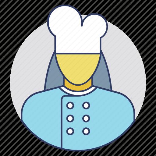 baker, cook female, cooker, kitchener, servant icon