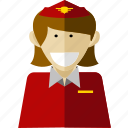 professional, stewardess, worker icon