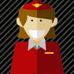 professional, stewardess, worker icon