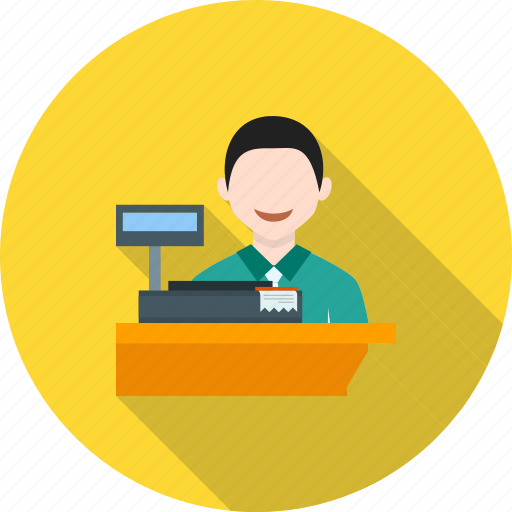 bank, bookstore, cashier, checkout, machine, sales, transaction icon