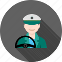 car, driver, drivers, hand, male, steering, wheel icon