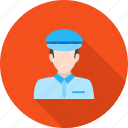 airline, crew, flight, helicopter, people, pilot, professional icon