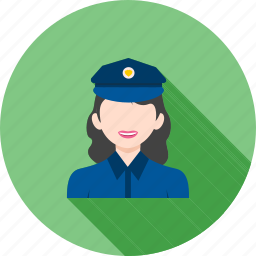 cop, law, officer, police, uniform, woman icon