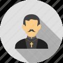 catholic, christian, church, cross, man, priest
