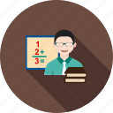 board, classroom, college, male, professor, school, teacher icon