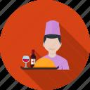 hotel, people, restaurant, service, staff, tray, waiter