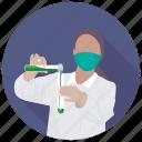 biochemist, biologist, botanist, scientist, zoologist icon