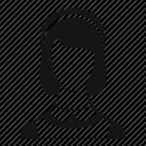 avatar, maid, service, torso, uniform, waitress, woman icon
