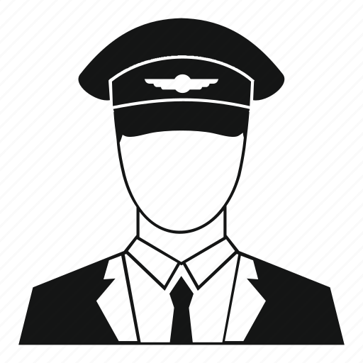 aircraft, airplane, cap, hat, pilot, travel, uniform icon