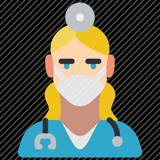 avatar, dentist, female, people, professional, professions, user icon