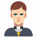 avatar, people, preist, professional, professions, user, vicar icon
