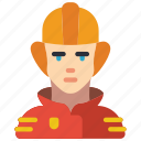 avatar, fireman, people, professional, professions, user icon