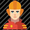 avatar, fireman, people, professional, professions, user icon