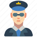 avatar, male, people, pilot, professions, user icon