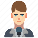avatar, male, people, professional, professions, reporter, user icon