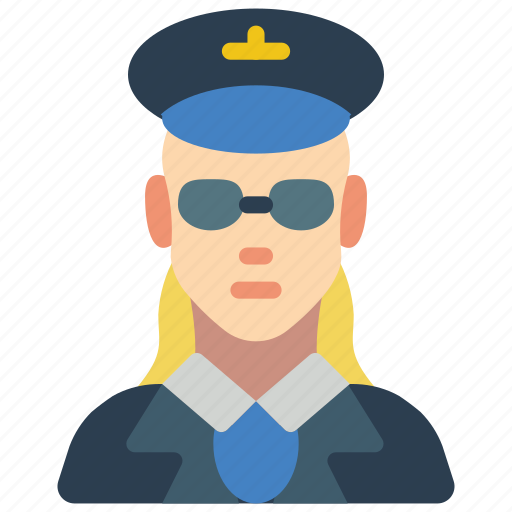 avatar, female, people, pilot, professional, professions, user icon