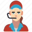 avatar, clerk, female, food, professional, professions, user icon