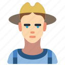avatar, farmer, male, people, professional, professions, user icon