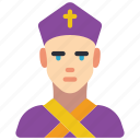 archbishop, avatar, people, professional, professions, user icon