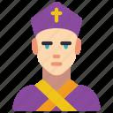 people, archbishop, professions, user, professional, avatar icon