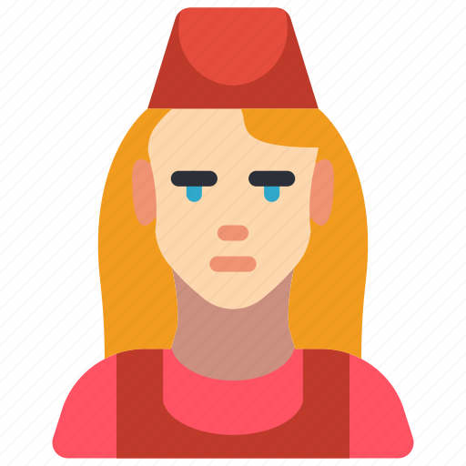 avatar, chef, fast, female, food, professional, professions icon