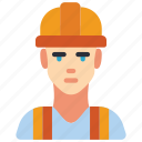 avatar, builder, construction, people, professional, professions, user icon