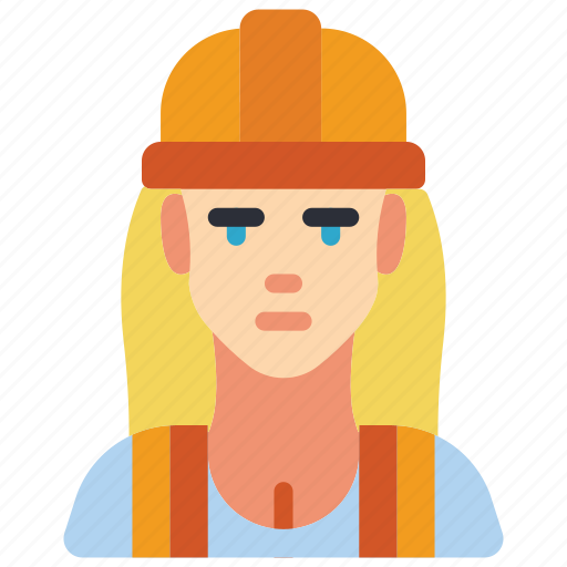 avatar, builder, construction, female, people, professional, professions icon