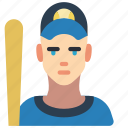 avatar, baseball, people, player, professional, professions, user icon
