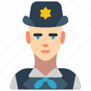 avatar, copper, people, police, professional, professions, woman icon