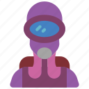 avatar, diver, frog, people, professional, professions, scuba icon